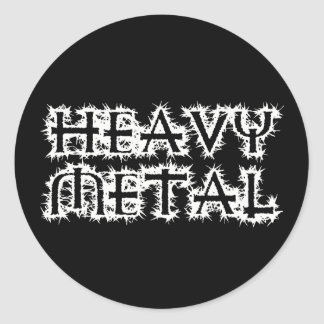 Heavy Metal Round Sticker
