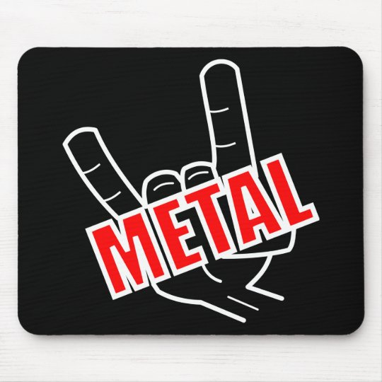 Heavy Metal Salute Music Mouse Mat