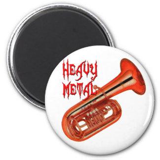 Heavy Metal Tuba 6 Cm Round Magnet