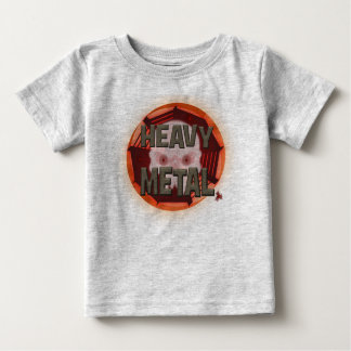 Heavy Metal with Scull Baby T-Shirt