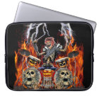 HEAVY METAL ZOMBIE DRUMMER LAPTOP SLEEVE