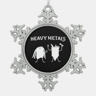 Heavy Metals Snowflake Pewter Christmas Ornament