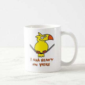 heavy on wire - heavy on wire coffee mug