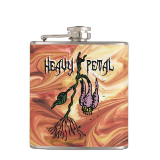 Heavy Petal funny Hip Flask