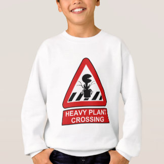 Heavy plant crossing sweatshirt