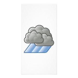 Heavy Rain Clouds Customized Photo Card
