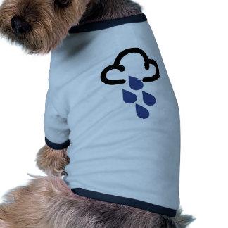 Heavy Rain Retro weather forecast symbol Dog Tshirt