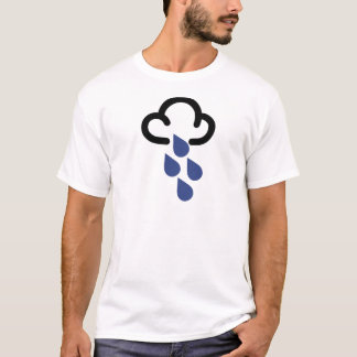 Heavy Rain: Retro weather forecast symbol T-Shirt