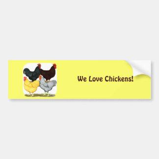 Heavy Rooster Chicken Quartet Bumper Sticker