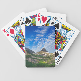Heavy Runner And Reynolds Mountain In Morning Bicycle Playing Cards