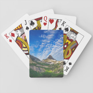 Heavy Runner And Reynolds Mountain In Morning Playing Cards