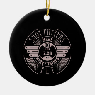 heavy things that fly 2 christmas ornament