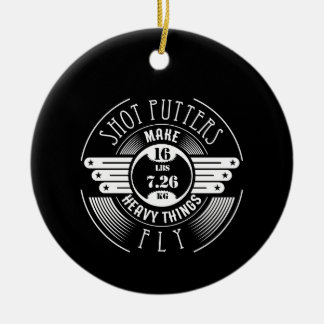 heavy things that fly christmas ornament
