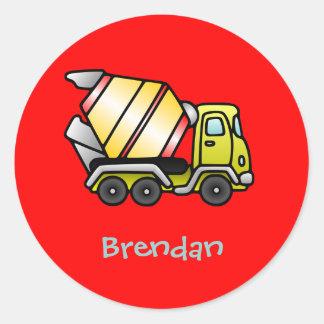 Heavy truckmixer round sticker