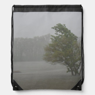 Heavy Windy Storm over a already Flooded Lake Drawstring Backpack