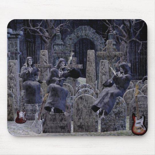 Heavymetal buzz graveyard mousepad