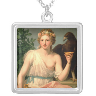 Hebe, 1784 silver plated necklace