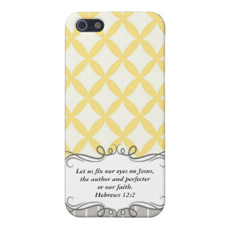 Hebrew 12:2  Modern Iphone case with Bible verse iPhone 5 Cover