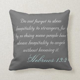 Hebrew 13:2 cushion