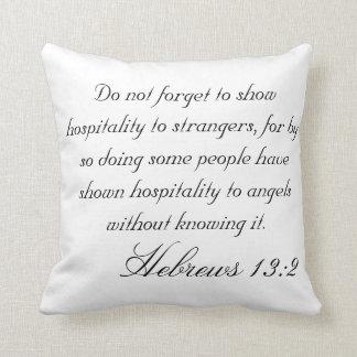 Hebrew 13:2 cushions