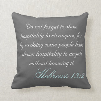 Hebrew 13:2 throw pillow