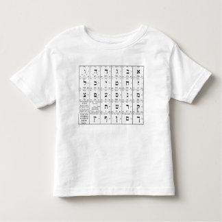 Hebrew Alphabet Letters Chart T-shirts