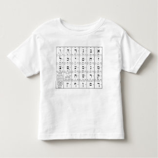 Hebrew Alphabet Letters Chart Toddler T-Shirt