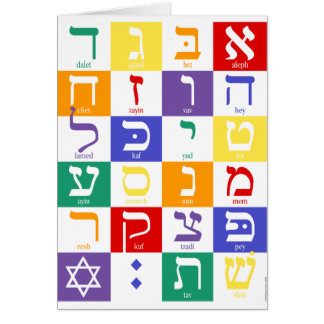 Hebrew Alphabet Notecard