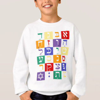 Hebrew Alphabet Rainbow Sweatshirt