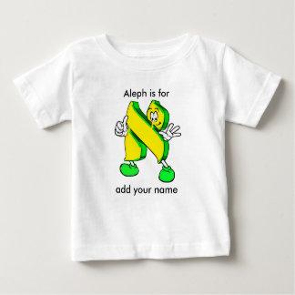 Hebrew Cartoon Alef Character Infant T-shirt