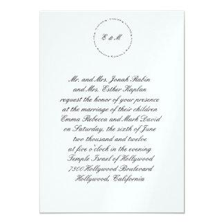 Hebrew Jewish Wedding Invitation Ani L'Dodi Metall