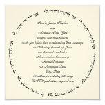 Hebrew Jewish Wedding Invitation Cream Square Ani 13 Cm X 13 Cm Square Invitation Card