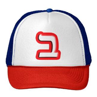 """Hebrew Letter """"Beis, Bet"""" Cap"""