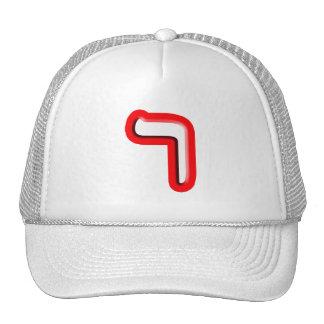 """Hebrew Letter """"Reish"""" Cap"""