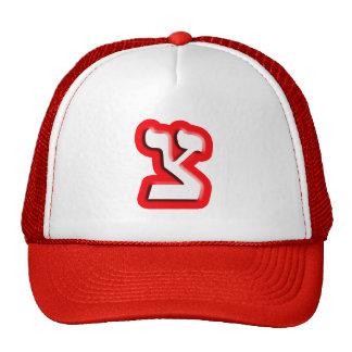 """Hebrew Letter """"Tzadi Cap"""