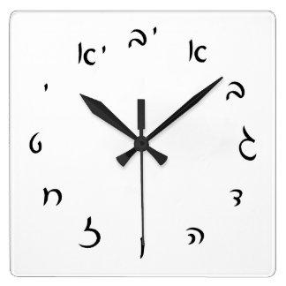 Hebrew Script Numerals Wallclock