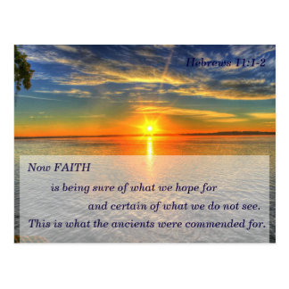 Hebrews 11:1 Christian Scripture Memory Card