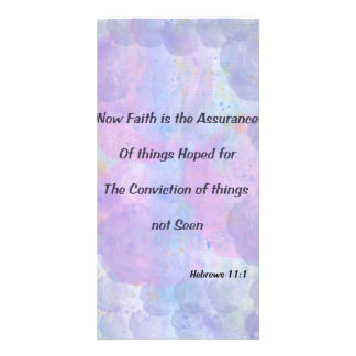 Hebrews 11:1 photo greeting card