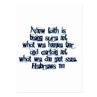 Hebrews 11:1 postcard