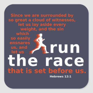Hebrews 12:1 Run the Race sticker