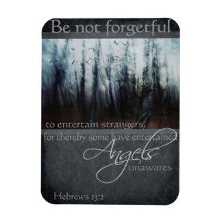 Hebrews 13:2 Angel Quote Rectangle Magnet