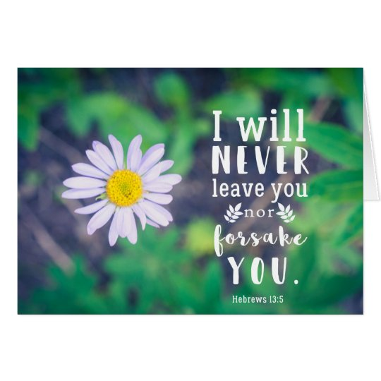 Hebrews 13:5 Greeting Card (Blank)
