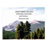 Hebrews 13:8 post card