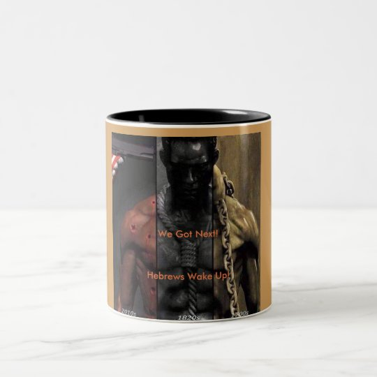 Hebrews Wake Up Mugs! Two-Tone Coffee Mug