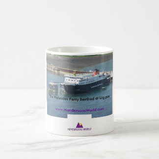Hebrides Ferry at Uig pier Coffee Mug