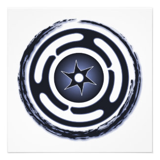 Hecate s Wheel Blue Invitations