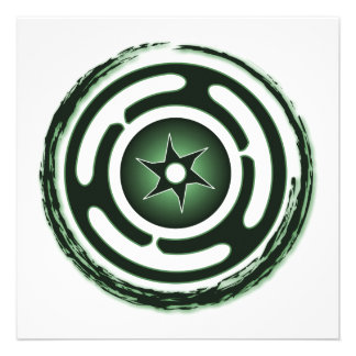 Hecate s Wheel Green Invitations