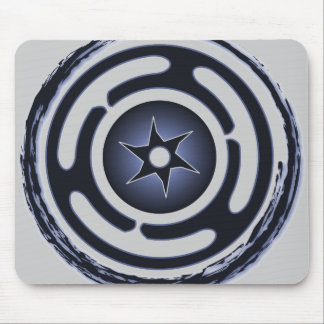 Hecate's Wheel (Blue) Mousepad
