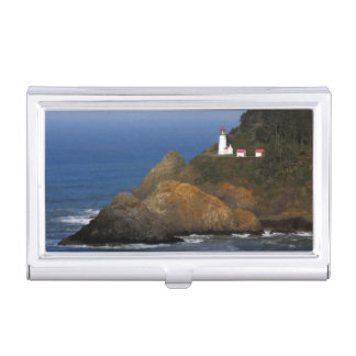 Heceta Head Lighthouse, Cape Creek, Oregon, USA Business Card Holder