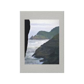 Heceta Head Lighthouse & Sea Lions Canvas Print